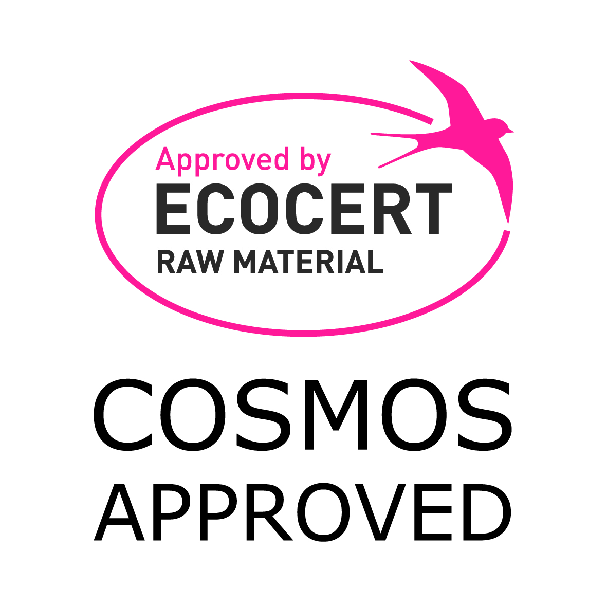 Logo Cosmos approved Quadricolor EN